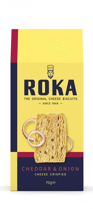 foto ROKA Cheese Crispies Cheddar Cheese with Onion 70g