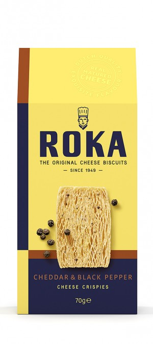 foto ROKA Cheese Crispies Cheddar Cheese with Black Pepper 70g