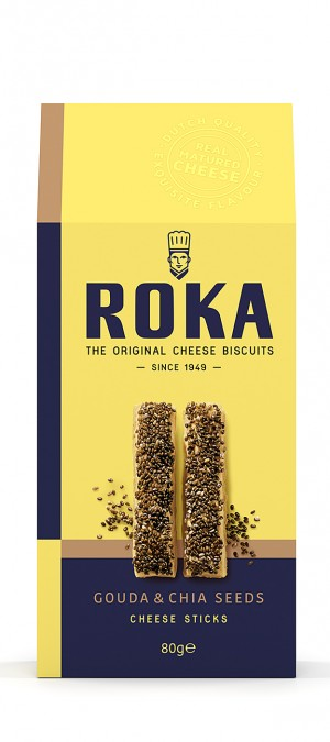 foto ROKA Cheese Sticks Gouda Cheese with Chia Seeds 80g